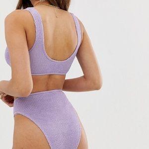 ASOS Swim - Purple Crinkle 2 pc Bathing Suit Set